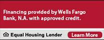 Looking for financing options? Special financing available. This credit card is issued with approved credit by Wells YFargo Bank, N.A. Equal Housing Lender. Learn more.